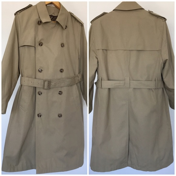 c47c79903 Misty Harbor Double Breasted Trench Coat M